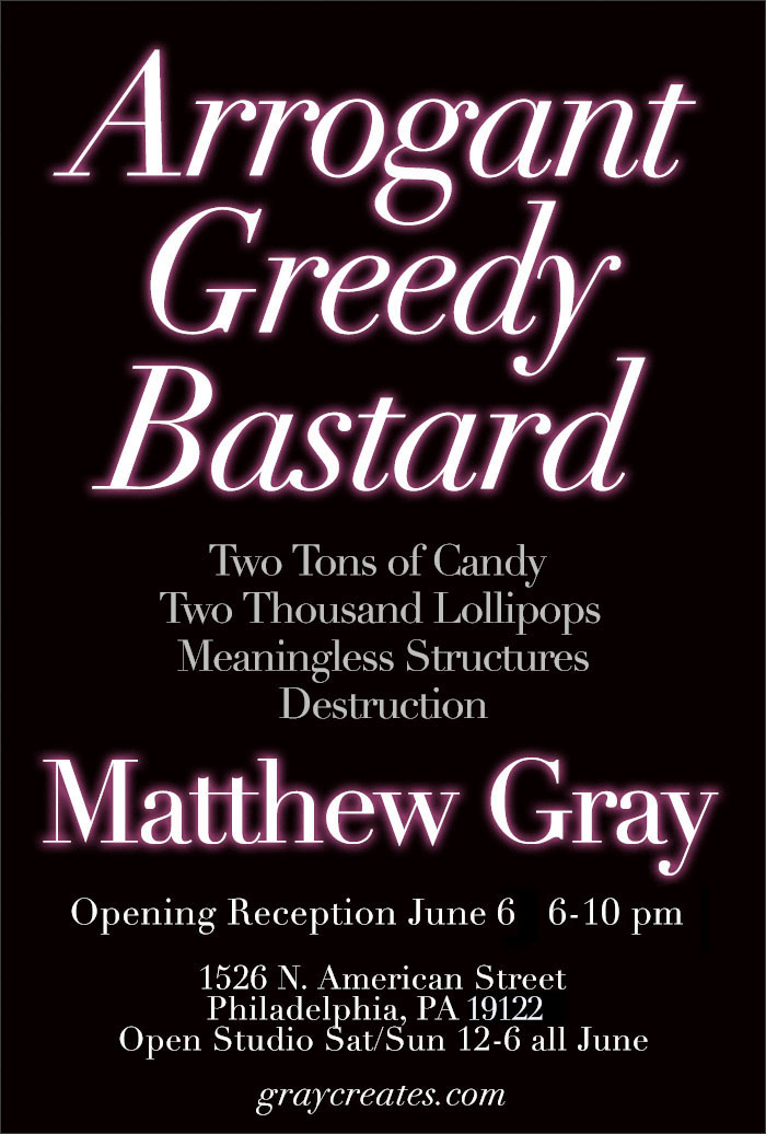 Matthew Gray Arrogant Greedy Bastard